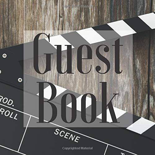 Guest Book: Movie Hollywood Film Theme - Signing Guestbook Gift Log Photo Space Book for Birthday Party Celebration Anniversary Baby Bridal Shower ... Keepsake to Write Special Memories In