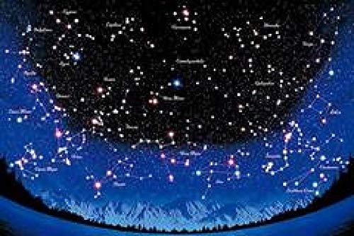 WOMGD® Twaalf sterrenbeelden in de nachtelijke hemel Legpuzzels, puzzel van 1000 stukjes, Brain Challenge-puzzel voor kinderen-500