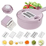Jeslon Vegetable Mandoline Schneidemaschine - 10 in 1 Gemüsespiralizer Cutter und Shredder - Küche...
