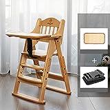 Trona con Trona evolutiva Trona para bebe Silla de comedor de madera maciza para bebés silla plegable para bebés en casa los niños aprenden a sentarse mesa y silla asiento multifuncional para comer