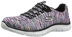 top 10 skechers sport shoes Skechers Women's Sport Empire – Relaxed Fit Fashion Skirt, Black / Multi, 8 B (M) US