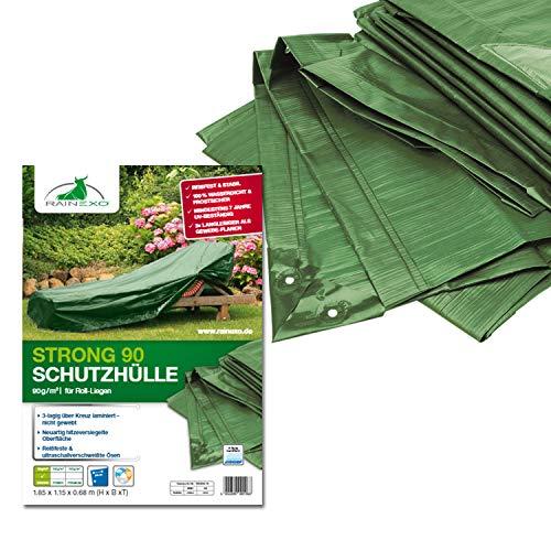 Bio Green RX90-RL Bâches de Protection pour Chaise Longue Vert 1,85 x 1,15 x 0,68 m