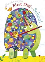 Jojo's Jungle First Day at School Good Luck Card - Terry Tortoise Goes to School - Lovely Flitter Finish - Greeting Card f...