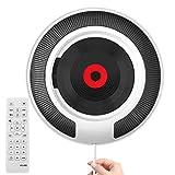 Lecteur CD, CD Player Enfant CD Player Bluetooth CD Player Hi-FI CD Player Portable Mural Home Audio Boombox Radio FM Intégrée Connexion Casque MP3 Entrée AUX avec Télécommande