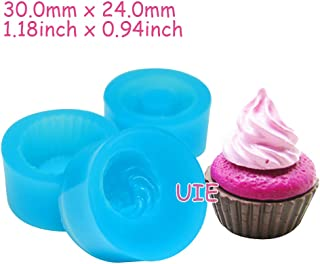 156LBG, 157LBG, 158LBG One Set 3Pcs Cupcake Mold 3D Silicone Flexible Mold Whipped Cream 30mm Deco Kawaii Miniature Sweets Mold