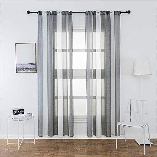 Souarts 2-delig gordijnen, borduurwerk, transparante bloemen, decoratieve sjaal, voile met oogjes, voor slaapkamer woonkamer