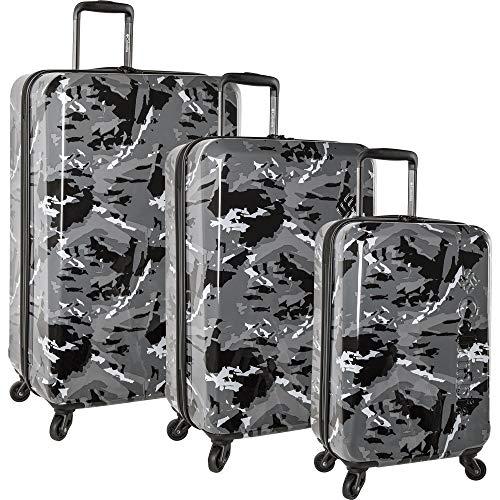 Columbia 3 Piece Hardside Spinner Luggage Suitcase Set, Woodsy Camo Deep Wood, One Size