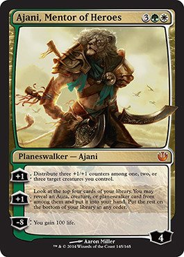Magic The Gathering - Ajani, Mentor of Heroes (145/165) - Journey into Nyx