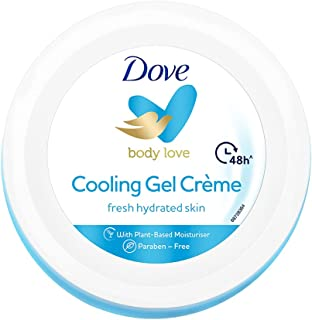 Dove Cooling Gel Crème (Cream), 48 Hrs Long Lasting Hydration, Lightweight, Oil Free Moisturizer For Smooth Skin, Paraben ...