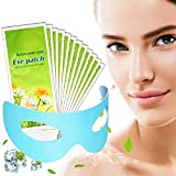 Eye Masks for Dark Circles and Puffiness Disposable Soothing Headache Relief Dry Eyes, Stress Relief Relief Eye Fatigue (Cooling Gel Eye Mask - 12 Packs)