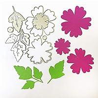 19 * 15.9cm花のパズルスクラップブッキングDIYエンボス加工母の日紙ダイカッティングダイ炭素鋼カッター金属ダイカード