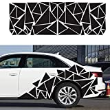 RoJuicy Unique Triangles Vinyl Car Side Stickers Long Stripe Big Car Decals Door Sticker Vinyl Sports Racing Decals Decorative Car Body Decoration Accessories 2MX60CM 1-2 Days Delivery