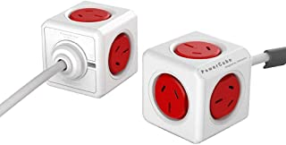 Allocacoc ALLOCACOC POWERCUBE Extended Boston RED-5 Outlets- 3.0m Cable, 5304RD/AUEXPC