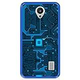 Funda Azul para [ Huawei Y635 ] diseño [ Placa de Circuito eléctrico ] Carcasa Silicona Flexible TPU