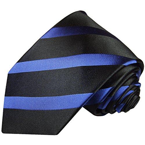 Blau schwarze Krawatte 100% Seide von Paul Malone