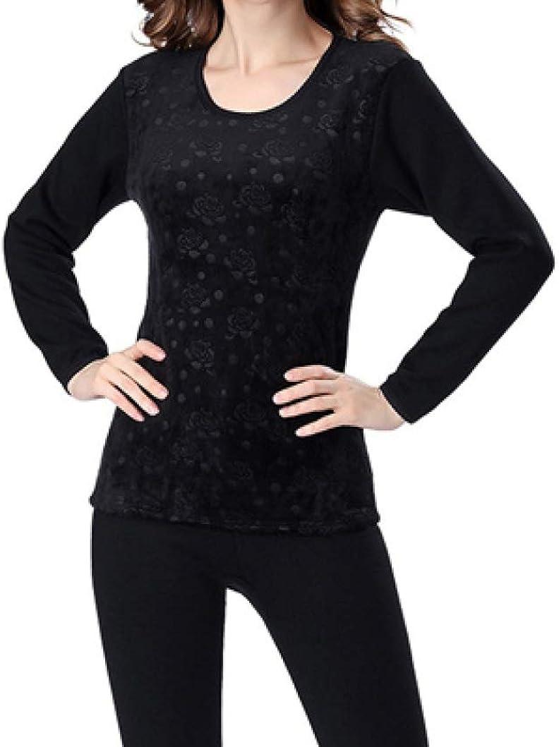 Thermal Underwear for Women Long Johns Set Fleece Lined Ultra Soft Scoop Neck