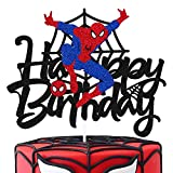 Spider man Cake Topper for Spider man Cartoon Themed Happy Birthday...