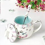 Li jing home Taza Taza de café Taza de cerámica Taza Taza de Desayuno Taza de Leche Termo Lindo té perfumado Leche café Oficina protección del Medio Ambiente café (Color : Blue)