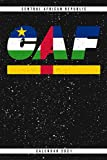 Central African Republic. CAF. Calendar 2021: Weekly planner with monthly overview and yearly overview. Cool gift idea for Christmas, birthday or any ... Weekly planner with dotted pages for notes