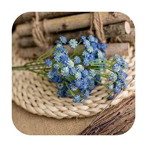 Art Flower 1Pcs 62Cm Artificial Fake Flowers Gypsophila Garland Decoration for Home Table Wedding Flower Plastic Valentine's Day Gift Decor-Blue-