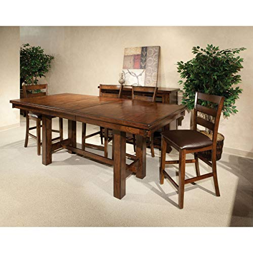 Intercon Kona Raisin 40x72-90 Gathering Trestle Table - Brown