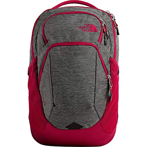 The North Face Pivoter Backpack, TNF Dark Grey Heather/Cardinal Red