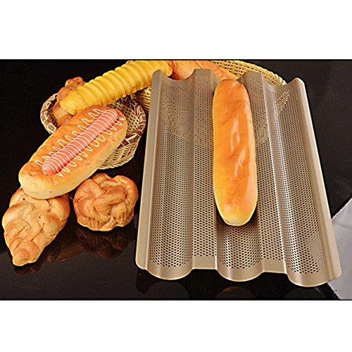 Molde para baguette, molde de silicona para pan, molde de pan, molde de pan plegable reutilizable, antiadherente, para horno de verduras en microondas, molde para pan, molde para hornear