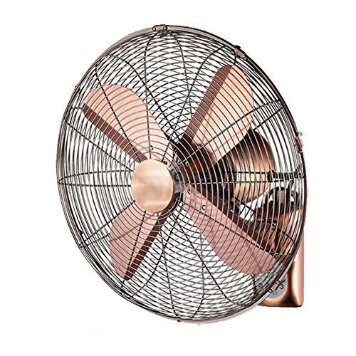 Vintage wandventilator oscillerende muur bevestigde ventilator afstandsbediening ventilator 3 ventilatormodi 7.5 uur timer voor huis, kantoor, woonhuis en bedrijf