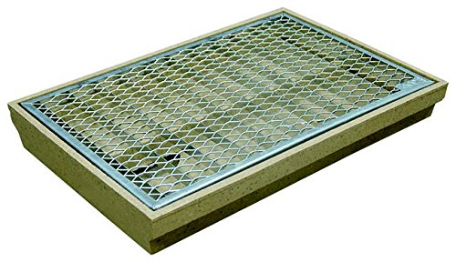 ACO Self Standard-Schuhabstreifer 75x50 cm mit einliegendem Streckmetall-Rost Bodenwanne samt Gitterrost für außen