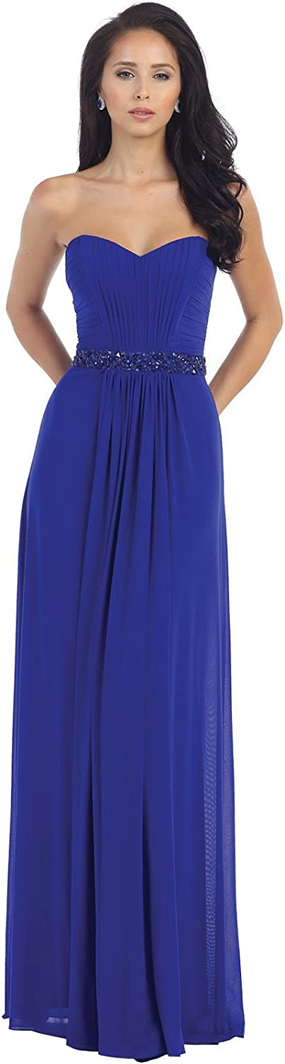 May Queen MQ1190 Stretchy Prom Evening Gown