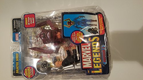 Marvel Legends Year 2005 Galactus Series Super Poseable 5 Inch Tall Action Figure - Charles Xavier aka Professor X with 33 Points of Articulation and Wheelchair Plus Bonus 32 Page Comic Book and Galactus Head