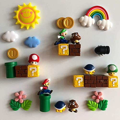 2-2,5 cm Niedliche Mini-Figur 3D-Harz Kühlschrank Magnete Spielzeug Für Kinder Home Decoration Ornamente Figuren Wand Magnet Kugeln Bricks 31Pcs