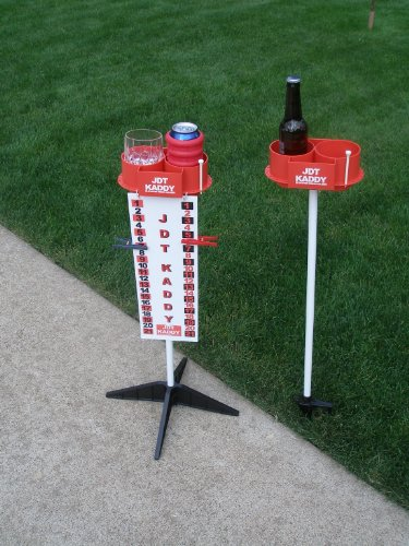 JDT Kaddy Elevated Drink Holders (Set of 2) - With Tournament Scoreboard