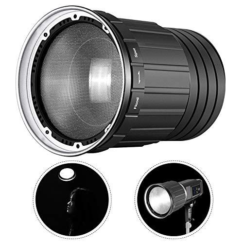 Neewer Fresnel 2X Montura Lente para Neewer SL60W SLB60W HY-1000Li SL-150W SL-200W Luz LED y Otras Luces Continuas Montaje Bowens