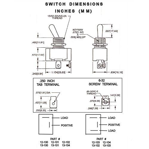 K4 Off-On Triple Sealed Switch 12 Volt 20 Amp 13-100