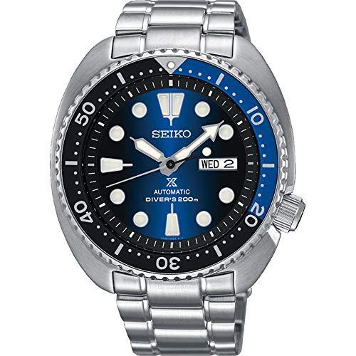 """SEIKO PROSPEX """"Turtle"""" mergulhador 200 m relógio automático azul sunburst mostrador SRPC25K1"""