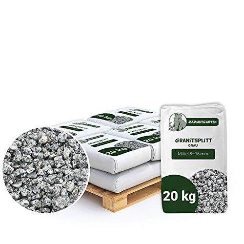 Granitsplitt Deko Granit Splitt Gartenkies Buntkies Grau Fein 8-16mm 20kg Sack x 7 (140kg)