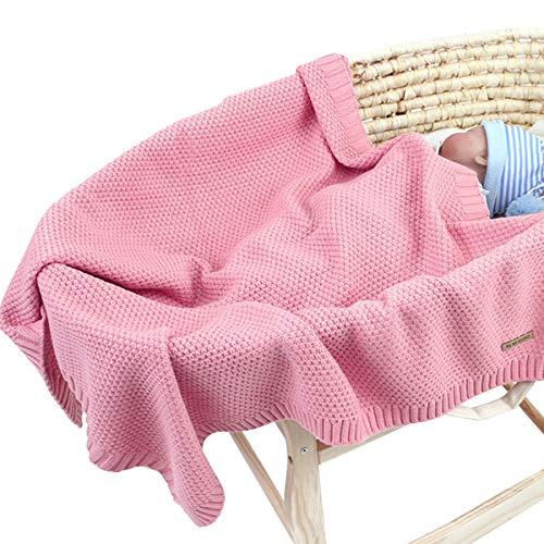 Yunhany Direct Baby Gebreide Haak Deken Peuter Wrap, Pasgeboren Kinderwagen Swaddle Deken