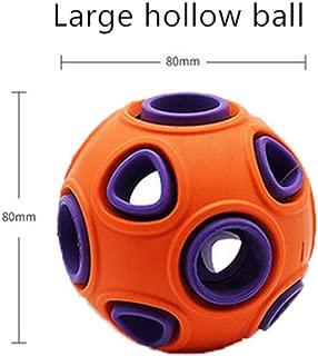 BKAMC Dog Toy Ball Large Dog bite-Resistant Teeth Vocal Ball Golden Retriever Puppies Training pet Toy Luminous Ball Singing