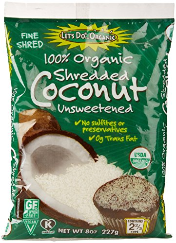 Let's Do Organics Unsweetened Shredded Coconut, 8 Oz