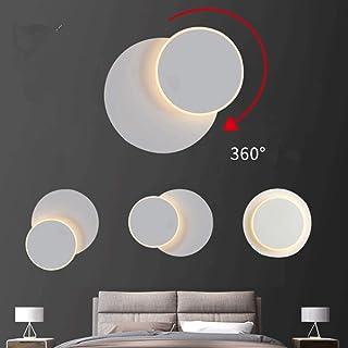 Aplique De Led,Lámpara De Pared,DIY Luz Giratorio De 350°, Para Interior Para Dormitorio Habitación Restaurante Escaleras Balcón Hotel