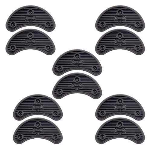 F Fityle 10 Uds, Suela de Goma, Protector de Talón Y Puntera, Grifos, Kit de Reparación de Zapatos DIY