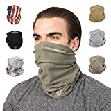 Terra Kuda Face Clothing Neck Gaiter Mask  Non Slip Light Breathable for Sun Wind Dust Bandana Balaclava (Operator Green)