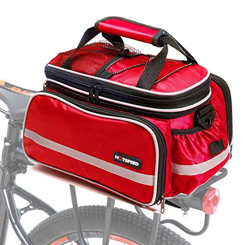 GUOGUODA Bike Pannier Bag Waterproof Bicycle Rear Seat Trunk Panniers Extendable Cycle Storage Pouch With Shoulder Strap & Rain Cover