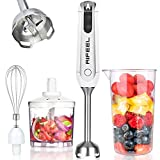 Aifeel Hand Blender 4-in-1 Set, 800W Stepless Speed Control, Anti-Splash Immersion Blender