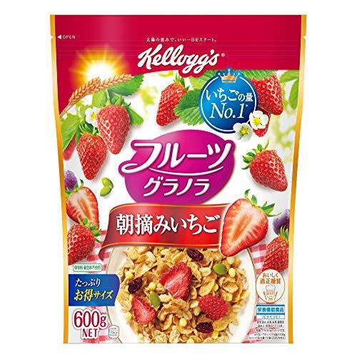 スマートマットライト ケロッグ フルーツグラノラ 朝摘みいちご 600g×6袋