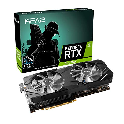 KFA2 GeForce RTX 2070 Super Ex [1-Klick-OC] Scheda Grafica 8 GB GDDR6-3X DisplayPort / 1x HDMI