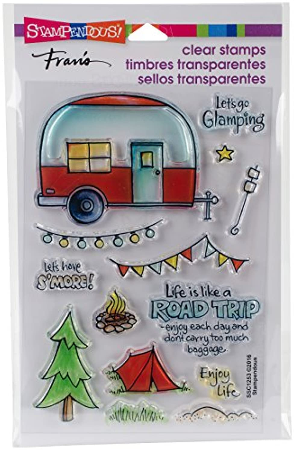 Stampendous Clear Stamp Set, Campground