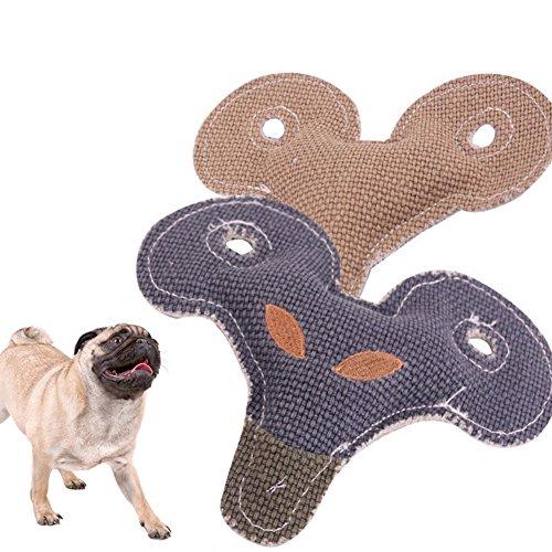 beiguoxia Juguete Divertido con Sonido de Cabra con Forma de Cabeza de Oveja de Lino, Cachorro de Perro, chirriante, Juguete para Mascotas