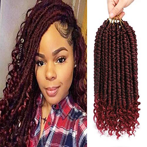 Fayasu Pre-twisted Spring Twist Crochet Hair Curl End Senegalese Spring Twist Braids Hair Extensions For Black Women 6 Packs TBUG